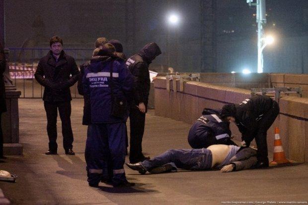 После убийства Немцова в Москве запустили фейерверк