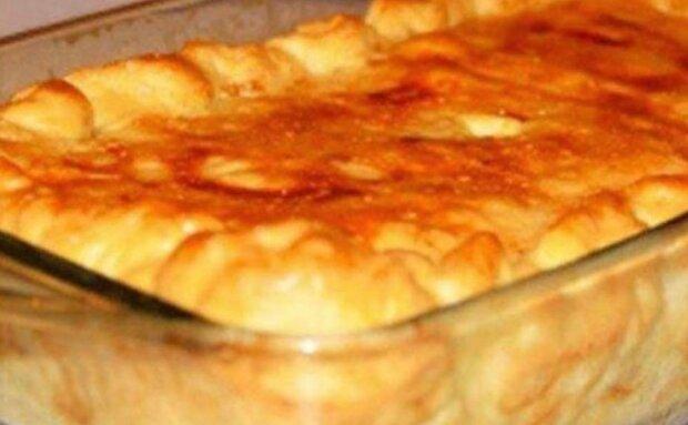 Пиріг з листкового тіста на кефірі, фото: instagram.com/legkie_retceptiki