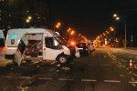 """У Києві Peugeot влетіло в """"швидку"""" з нізвідки, є жертви: відео смертельного зіткнення"""