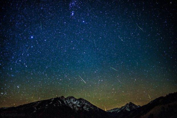 Метеоры потока Ориониды