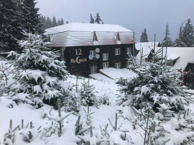 снег в Драгобрате, фото с Facebook