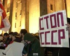 Протести у Тбілісі, скріншот із відео Reuters