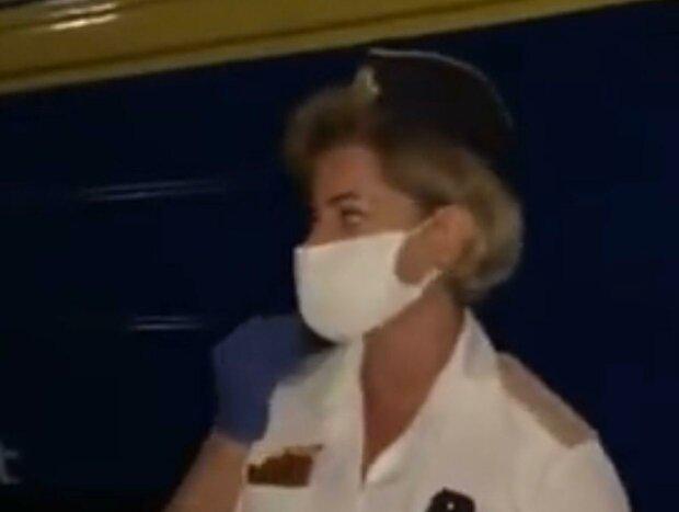 провідниця / скріншот з відео