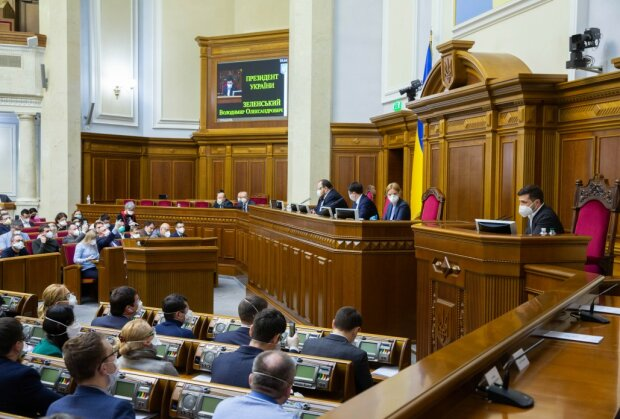 Зеленский в парламенте, фото: president.gov.ua
