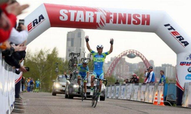 Український велогонщик вдруге переміг у Москві