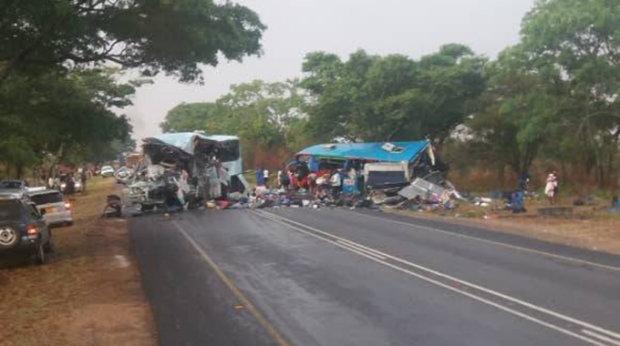Лобовое столкновение 2-х  автобусов вАфрике: погибли дополусотни человек