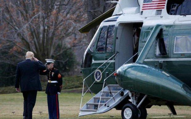 Вертолет Трампа сломался в воздухе, весь мир замер