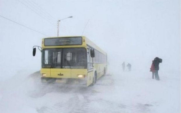 У холоді та без їжі: автобус із дітьми потрапив у снігову пастку