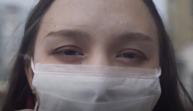 Носіння маски, фото: кадр з відео