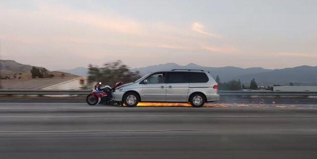 ДТП с мотоциклистом, скриншот