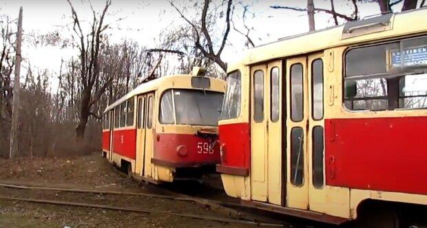трамвай, скріншот з відео