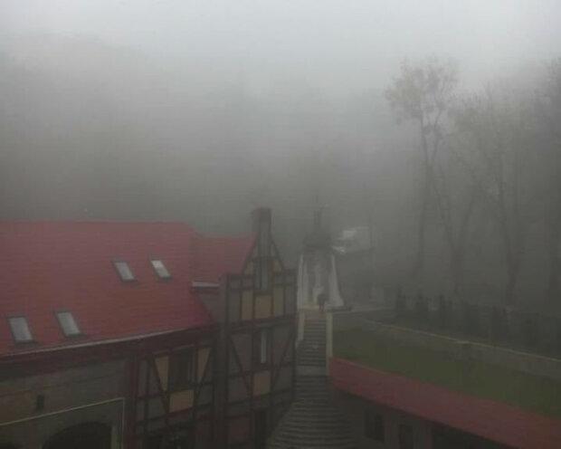 Львовщина в тумане, фото Львовский региональный центр по гидрометеорологии