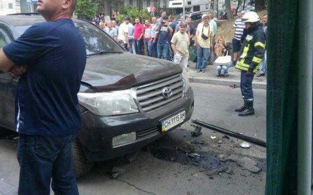 Взрыв в центре Киева: опубликовано видео