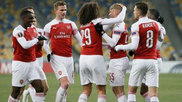 Ліга Європи: Арсенал розгромив Ворсклу, за лондонців грали Ремзі та Чех