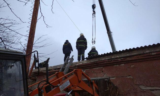 Взрыв в школе на Николаевщине, фото ГСЧС