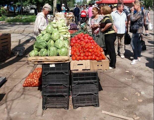 Запорожцам впаривают сальцо с помидорами из асфальта - сметают и просят ещё