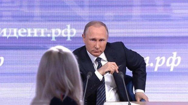 Нагодуй з лопати: в інтернеті висміяли прес-конференцію Путіна (фото)