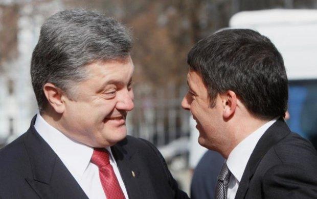 Порошенко домовився з прем'єром Італіі про нові санкціі проти РФ