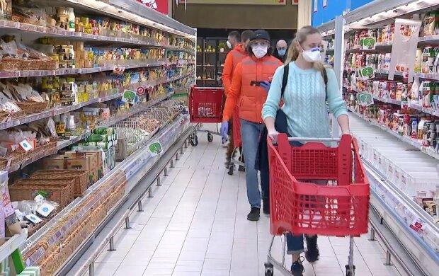 Супермаркет во время карантина, фото YouTube