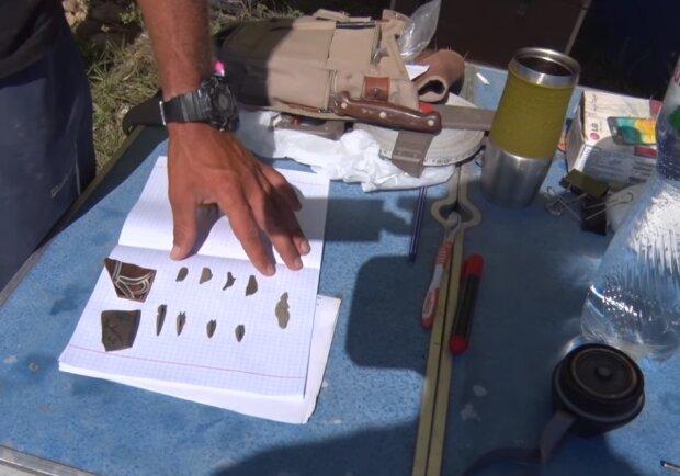 Археологічні знахідки, скріншот відео
