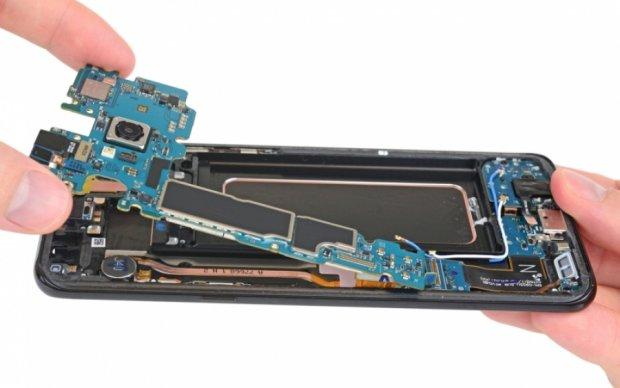 Samsung Galaxy S8 оценили на ремонтопригодность
