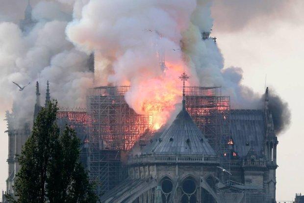 Рятувальники назвали причину пожежі в соборі Паризької Богоматері