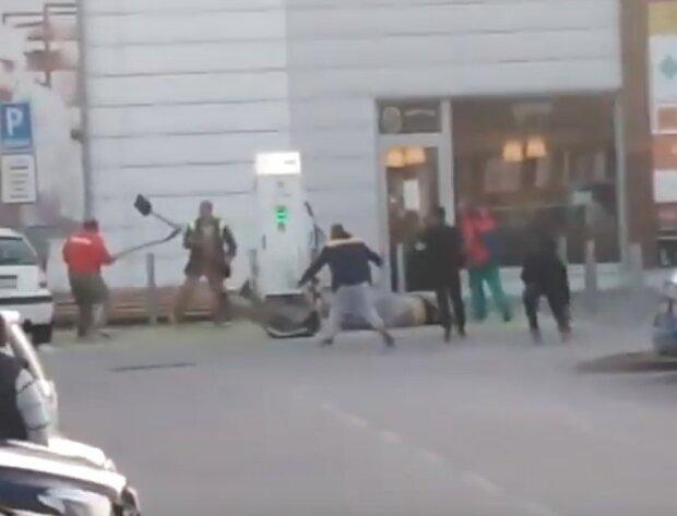 бійка українців з ромами в Словаччині, кадр з відео