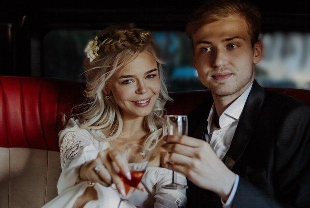 Алина Гросу с мужем Александром