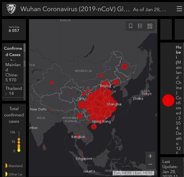 Карта коронавирус, фото с сайта