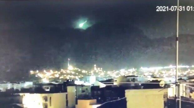 метеорит над Турцией, скриншот