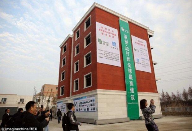Китайці будують  багатоповерхівки на принтері