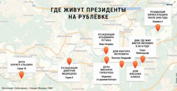 Втікач Віктор Янукович живе в підмосковній Рубльовці