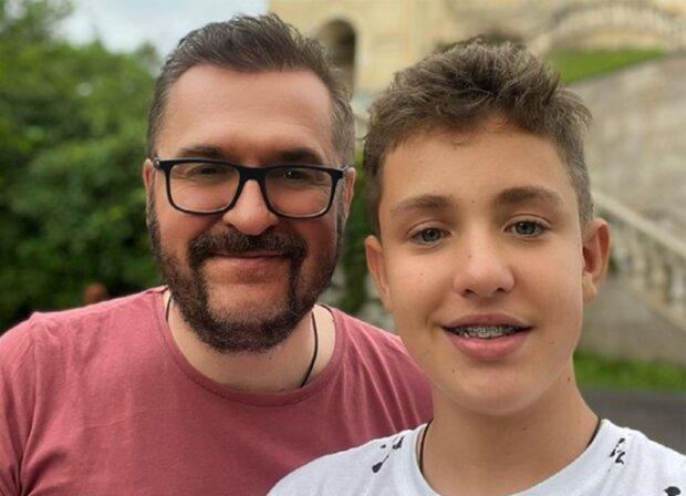 Александр Пономарев с сыном, фото из instagram