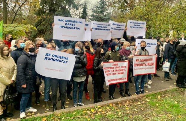 протест у Львові, фото з Facebook