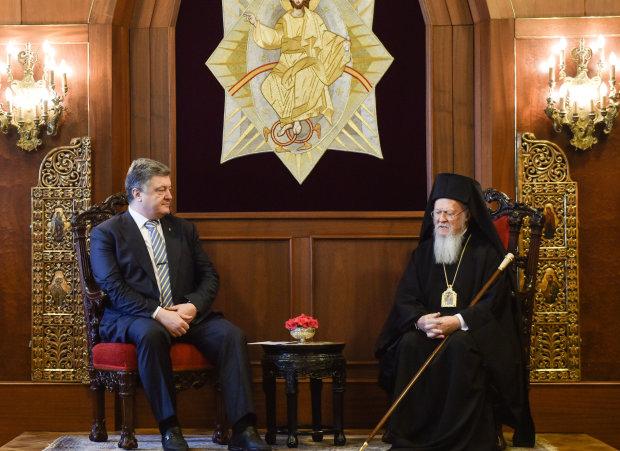 Вселенский патриарх Варфоломей и Петр Порошенко