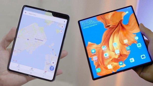 Huawei Mate X і Samsung Galaxy Fold