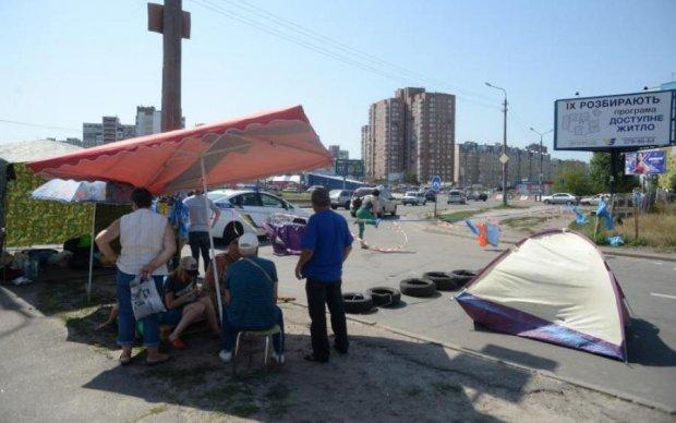 Протестуючі знову заблокували дорогу в Києві