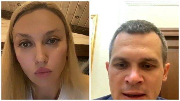 Оля Полякова та Олексій Кучер, скріншот з відео