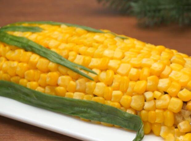 "Салат ""кукуруза"", кадр из видео"