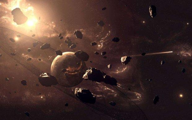 астероид Колобок в космосе