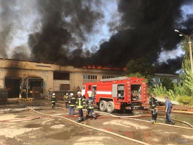 Беспощадный огонь чуть не лишил Украину крупнейшего сырного завода: фото