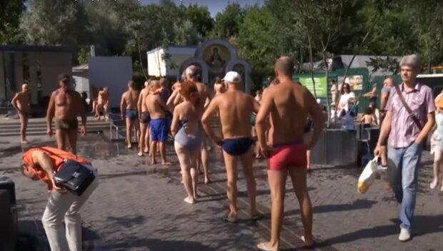 жара в Харькове, скриншот из видео