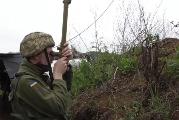 Ситуация на Донбассе, скриншот из видео