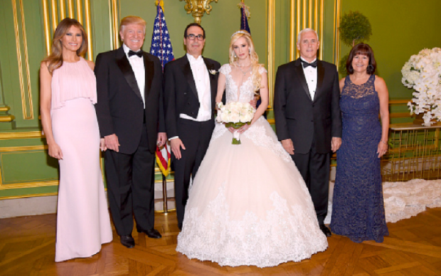 Жена Трампа затмила невесту министра
