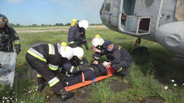 Навчання рятувальників, фото: Facebook ДСНС Івано-Франківської області