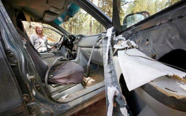 Что бывает, когда медведь закрывается в машине: фото