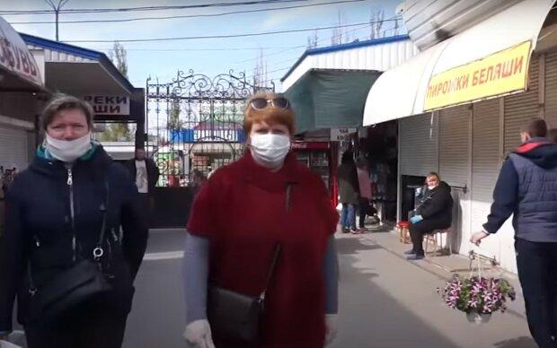 ринки на карантині, скріншот з відео