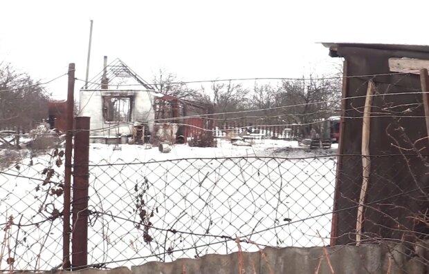 Оккупанты обстреляли частный сектор Водяного, скрин