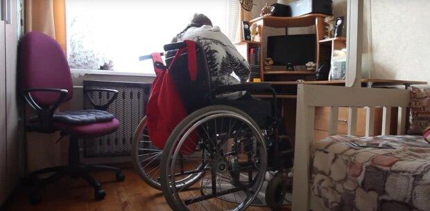 Людина з інвалідністю, скріншот: Youtube