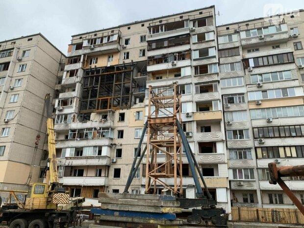 разрушенный дом на Позняках, фото: 44.ua